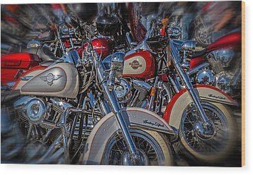 Wood Print featuring the photograph Harley Pair by Eleanor Abramson