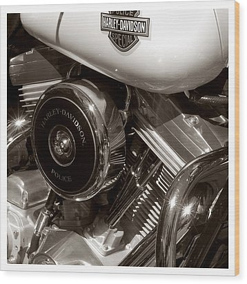 Harley Police Special Wood Print by Jeff Leland