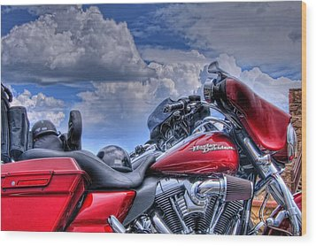 Harley Wood Print by Ron White