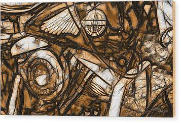 Harley Shovelhead Wood Print by Michael Spano
