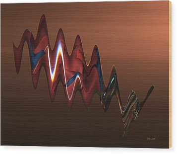 Harmonic Flow Wood Print by Dennis Lundell