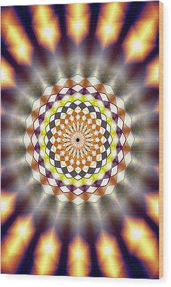 Wood Print featuring the drawing Harmonic Sphere Of Energy by Derek Gedney