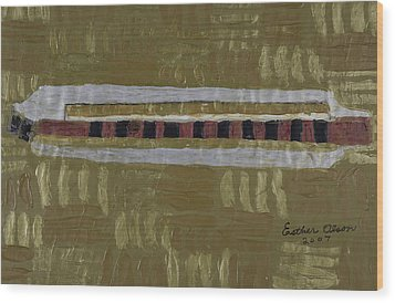 Harmonica Wood Print by Esther Olson