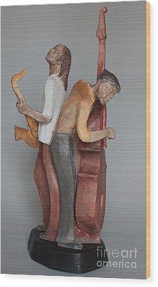 Harmonizing In D Wood Print by Wayne Headley