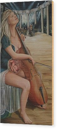 Harmony For Two - Harmonie Pour Deux Wood Print
