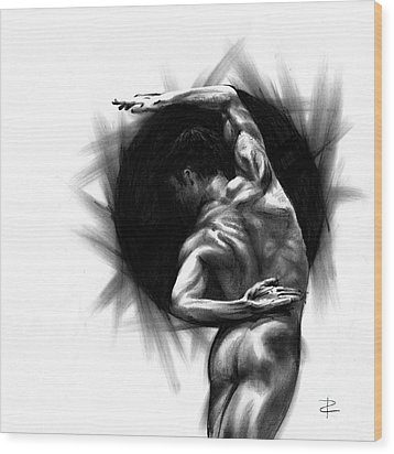 Wood Print featuring the drawing Harmony by Paul Davenport