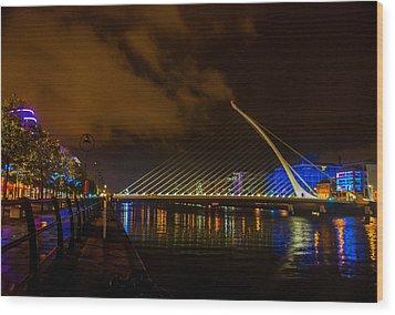 Harp Bridge Dublin Wood Print by Rob Hemphill