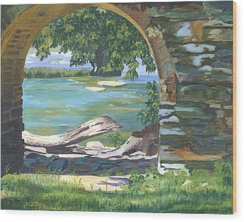 Harper's Arch Wood Print by Lynne Reichhart