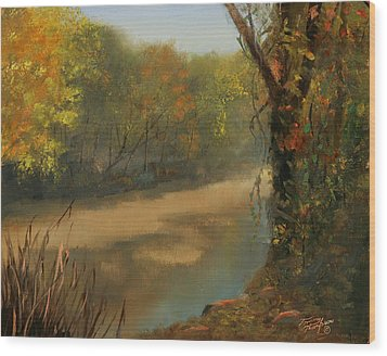 Harpeth At Carnton Wood Print by Tommy Thompson