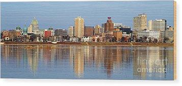 Harrisburg Reflections Wood Print