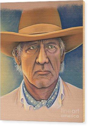 Harrison Ford Wood Print by Tish Wynne
