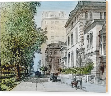Harrison Residence East Rittenhouse Square Philadelphia C 1890 Wood Print by A Gurmankin