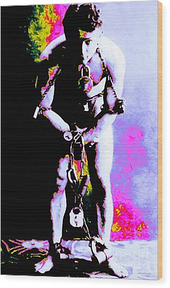 Harry Houdini - 20130208 Wood Print by Wingsdomain Art and Photography