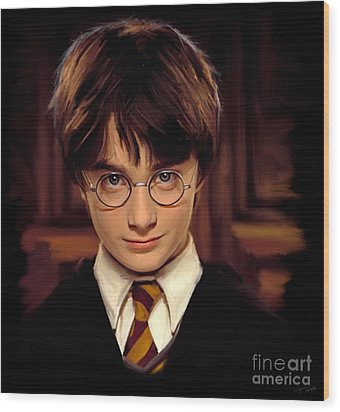 Harry Potter Wood Print by Paul Tagliamonte