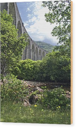 Wood Print featuring the photograph Harry Potters Glenfinnan Viaduct Scotland by Sally Ross