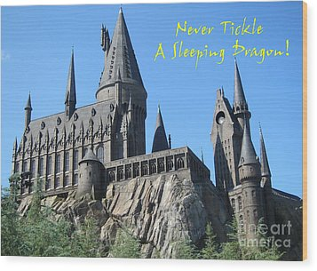 Harry's Hogwarts Wood Print by Marguerita Tan