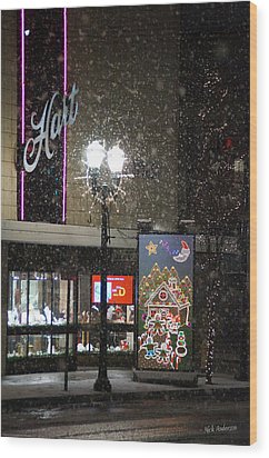Hart In The Snow - Grants Pass Wood Print by Mick Anderson