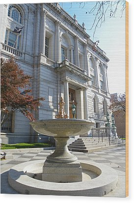 Hartford Historical Building Wood Print