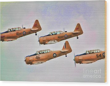 Wood Print featuring the photograph Harvard Aircraft  by Cathy  Beharriell