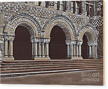 Harvard  Entrance To Law School   C1900 Wood Print by Andrzej Szczerski