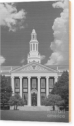 Baker Bloomberg At Harvard University Wood Print by University Icons