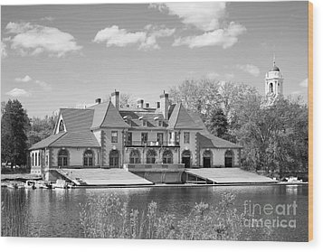 Weld Boat House At Harvard University Wood Print by University Icons