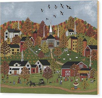 Harvest Celebration II Wood Print by Medana Gabbard