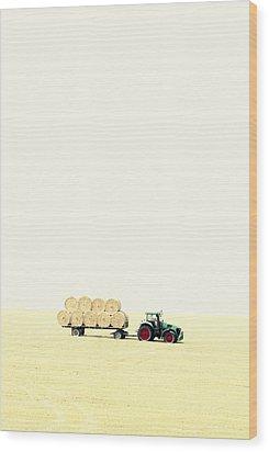 Harvest Wood Print by Chevy Fleet