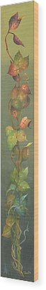Wood Print featuring the painting Harvest Grapevine by Doreta Y Boyd