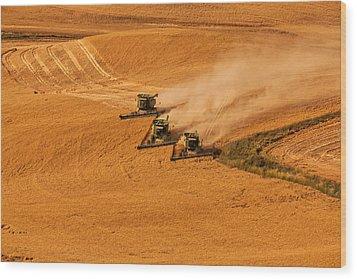 Harvest Wood Print by Mary Jo Allen