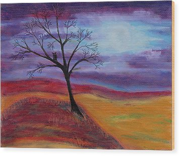Harvest Moon 2 Wood Print