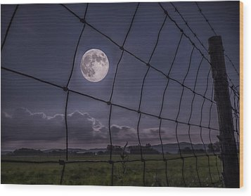 Wood Print featuring the photograph Harvest Moon by Jaki Miller