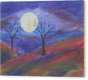 Harvest Moon 3 Wood Print