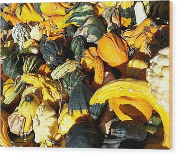 Harvest Squash Wood Print