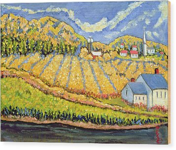 Harvest St Germain Quebec Wood Print by Patricia Eyre
