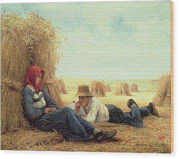 Harvest Time Wood Print by Julien Dupre