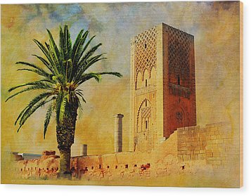 Hassan Tower Wood Print by Catf