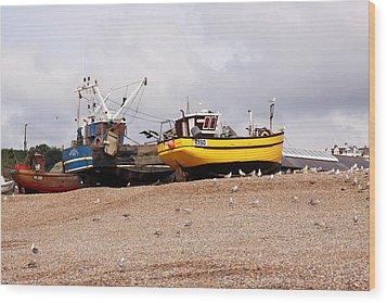 Hastings Fishing Boats Wood Print