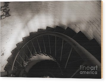 Wood Print featuring the photograph Hatteras Staircase by Angela DeFrias