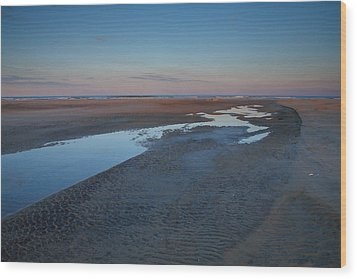 Hatteras Tidal Pools II Wood Print by Steven Ainsworth