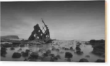 Haunted Beach Wood Print by Mihai Florea