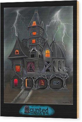 Haunted Wood Print by Glenn Holbrook