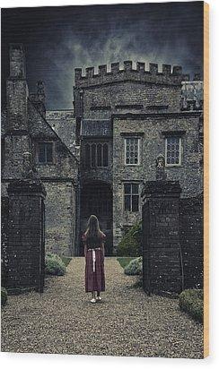 Haunted House Wood Print by Joana Kruse