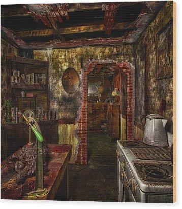 Haunted Kitchen Wood Print