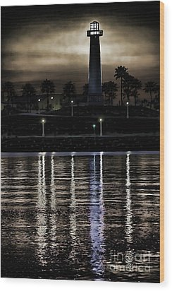 Haunted Lighthouse Wood Print by Mariola Bitner