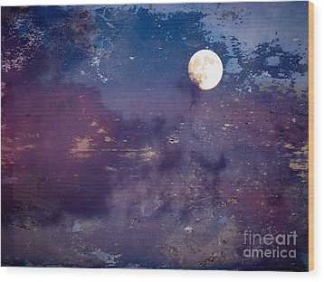 Haunted Moon Wood Print by Roselynne Broussard