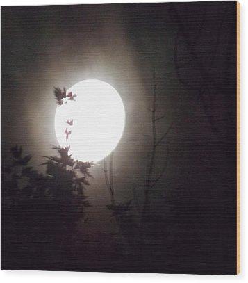 Haunted Night 1 Wood Print