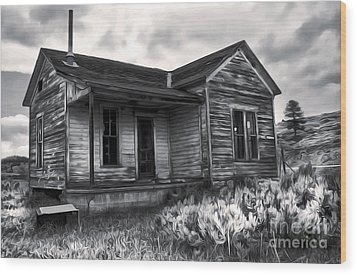 Haunted Shack - 01 Wood Print by Gregory Dyer