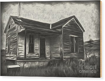 Haunted Shack - 02 Wood Print by Gregory Dyer