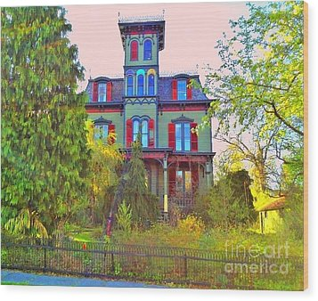 Wood Print featuring the photograph Hauntingly Victorian  by Becky Lupe
